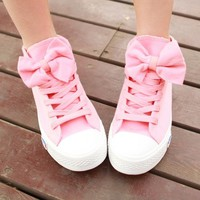 00-PINK BOW CANVAS SHOES-0-55-88 from Fabrikworks