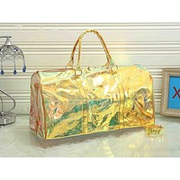 LV fashion casual men's and women's shopping bag hot seller with transparent printed gradient shoulder bag #5