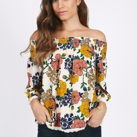 Forever Ago Floral Off-Shoulder Top | Ruche