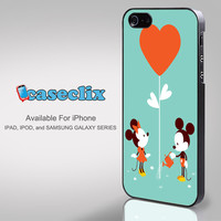 Mickey and Minnie with Flower for Smartphone Case