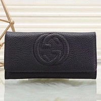 Gucci Women Fashion Leather Buckle Wallet Purse-24