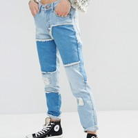 Boohoo Patched Jean