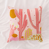 Cactus Landscape Throw Pillow | Urban Outfitters