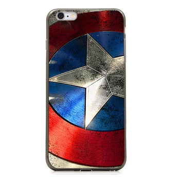 "Captain America Shield TPU Silicone Case for Iphone 6/6s PLUS (5.5"")"
