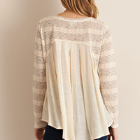 Two Tone Top - Natural