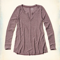 Girls Must-Have Notch-Front Ribbed T-Shirt | Girls Clearance | HollisterCo.com