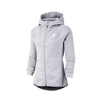 Nike Women's NSW Windrunner Tech Fleece Zip Up Hoodie Dark Grey Heather