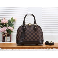 LV Louis Vuitton WOMEN'S DAMIER CANVAS ALMA BB HANDBAG SHOULDER BAG