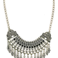 Gypsy Soul Statement Necklace in Silver