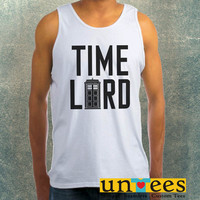 Doctor Who Tardis Doctor Who Time Lord Clothing Tank Top For Mens