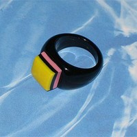 Old fashioned licorice candy ring by MotleyCharms on Etsy