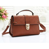 LV hot selling lady's casual shoulder bag fashion solid color embossed shopping bag #2