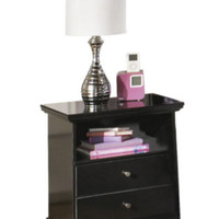 Casual Cottage One-Drawer Nightstand Bedroom Furniture Solid Black Finish New