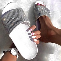 Rhinestone  Slides Crystal Diamond Bling