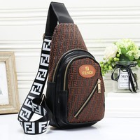 Fendi fashion casual wild print chest bag shoulder Messenger bag