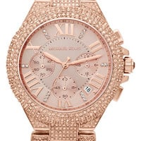 Michael Kors 'Camille' Crystal Encrusted Chain Link Watch, 44mm | Nordstrom