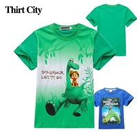 2-10T Summer 100%Cotton Short Sleeve Cartoon Dinosaur Boys T Shirt Casual The Good Dinosaur T-Shirt for Children Boys Clothes