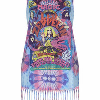 Led Zeppelin Print Dress by And Finally - Pink