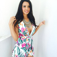 BelleXo Arzu Playsuit- Floral