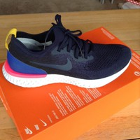 Nke Epic React Flyknit College Navy / Marine College Trainers Running Shoes 6.5