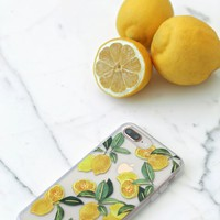 Lemon Zest Clear and Yellow 6s Plus, 7 Plus, and 8 Plus Case