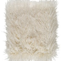 Kharaa Faux Fur Throw Pillow - Cream