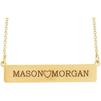 Personalized Be Posh® Engravable Bar Necklace - Sterling Silver or Solid Gold