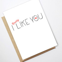 Valentine Card - I (Really) Like You PDF