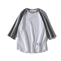 Champion  T-shirt six color the pure cotton sweat cloth  washing fixed phase Light grey