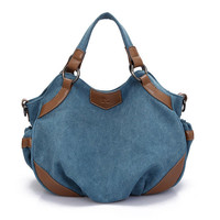 Women Vintage Casual Canvas Hobo Handbag Shoulder Bag