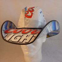 Beer Box Cowboy Hats. Made from recycled Coors Light Beer boxes. Beerhat.