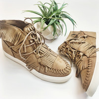 Fringe High Top Sneakers