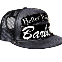 Better Than Barbie Gunmetal Snapback Hat