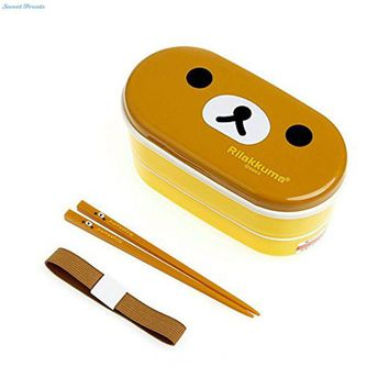 Sweettreats Cute Lovely Bear Bento  Box with Free High Heat Resistance