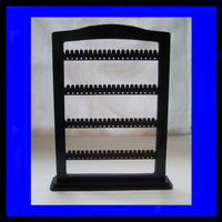 Jewelry Organizer / Earring Holder STAND LARGE display with BASE 80 pair black