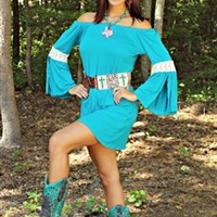 Young Love Tunic Dress in Jade