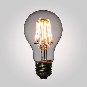 LED Filament Light Bulb, A19, Vintage Look, Energy Saving, E26 Base, 6 Watts