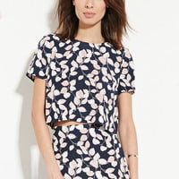 Contemporary Leaf Print Top | LOVE21 - 2000167948