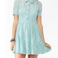 Embroidered Lace Shirtdress