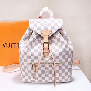 LV Louis Vuitton Fashion simple large-capacity printed backpack travel backpack