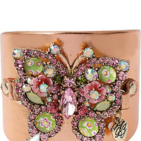 BETSEY LEATHER BUTTERFLY CUFF MULTI