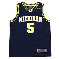 University of Michigan #5 Jalen Rose Nike Elite Basketball Jersey Navy (Small)