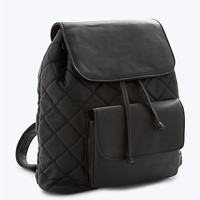 Quilted Bucket Backpack