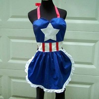 Captain America Apron Cosplay Costume Hero