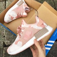 Adidas NMD XR1 Duck Camo Trending Women Men Casual Running Sport Shoes Sneakers Camouflage Pink