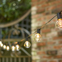 Globe String Lights, 2 in. Bulbs, C9, 25 ft. Black Wire, Outdoor, Clear