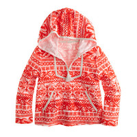 crewcuts Girls Printed Terry Popover Hoodie