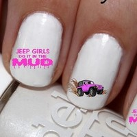 All Things Jeep - Jeep Girls Do It In The Mud Nail Decals