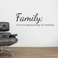 Family Wall Sticker Decal Quote Mural Wall Vinyl Stencil Words Inspirational