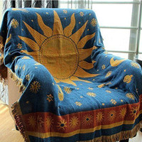 World Map blanket throw rugs tapestry vintage sofa cover home decor wall hanging